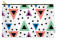 Triangular Dance Repeat Print Carry-all Pouch