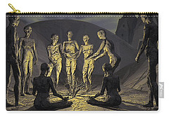 Carry-all Pouch featuring the digital art Tribe by John Alexander