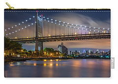 Carry-all Pouch featuring the photograph Triboro Bridge by Mihai Andritoiu