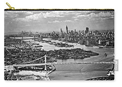 Triborough Bridge Is Completed Carry-all Pouch by Underwood Archives