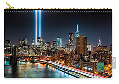 Tribute In Light Memorial Carry-all Pouch by Mihai Andritoiu