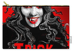 Trick Or Treat Carry-all Pouch by Carol Jacobs