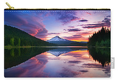 Trillium Lake Sunrise Carry-all Pouch