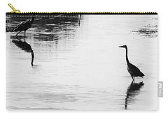 Carry-all Pouch featuring the photograph Trilogy - Black And White by Belinda Greb