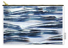 Carry-all Pouch featuring the photograph Trio In Blue by Wendy Wilton