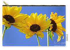 Trio In The Sun - Yellow Daisies By Diana Sainz Carry-all Pouch