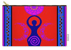 Carry-all Pouch featuring the digital art Triple Goddess by Vagabond Folk Art - Virginia Vivier