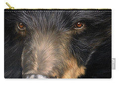 Trixie Moon Bear - In Support Of Animals Asia Carry-all Pouch by David Stribbling