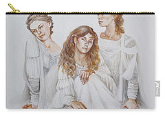 Carry-all Pouch featuring the painting Trois by Marina Gnetetsky