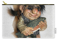Carry-all Pouch featuring the sculpture Troll Fisherman by Sergey Lukashin
