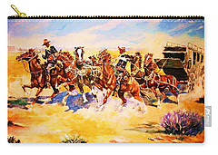 Troopers Stopping A Runaway Coach Carry-all Pouch
