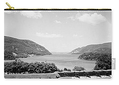 Trophy Point North Fro West Point In Black And White Carry-all Pouch