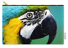 Tropical Bird - Colorful Macaw Carry-all Pouch by Sharon Cummings