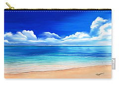 Carry-all Pouch featuring the drawing Tropical Blue by Anthony Fishburne