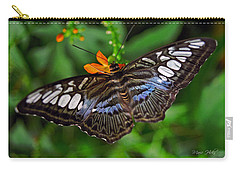 Carry-all Pouch featuring the photograph Tropical Butterfly by Marie Hicks