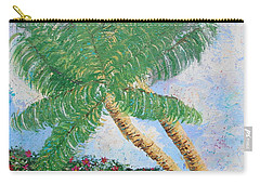 Carry-all Pouch featuring the painting Tropical Flair by Margaret Bobb