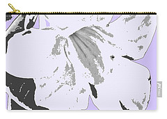 Tropical Floral Violet Black Carry-all Pouch