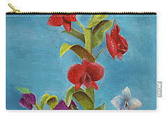 Carry-all Pouch featuring the painting Tropical Flower by Thomas J Herring