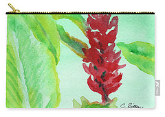 Tropical Flowers 2 Carry-all Pouch by C Sitton
