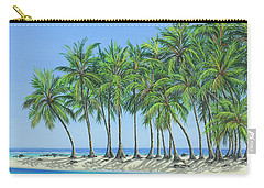 Carry-all Pouch featuring the painting Tropical Lagoon by Jane Girardot