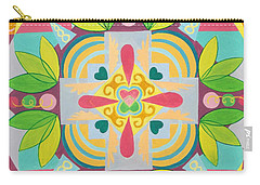 Tropical Mandala Carry-all Pouch