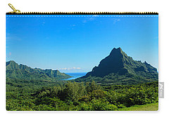 Tropical Moorea Panorama Carry-all Pouch by IPics Photography