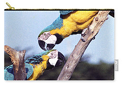 Tropical Parrots In Love Carry-all Pouch