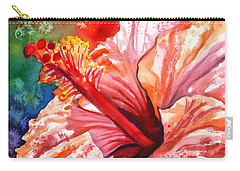 Tropical Pink Hibiscus Carry-all Pouch
