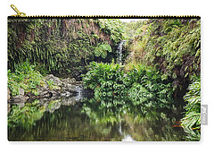 Tropical Reflections Carry-all Pouch by Denise Bird