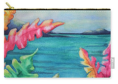 Carry-all Pouch featuring the painting Tropical Scene by Chrisann Ellis