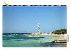 Tropical Seascape With Lighthouse Carry-all Pouch