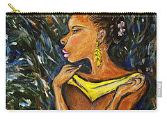 Carry-all Pouch featuring the painting Tropical Shower by Xueling Zou