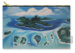 Carry-all Pouch featuring the painting Tropical Skies by Dianna Lewis
