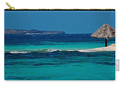 Carry-all Pouch featuring the photograph Tropical Umbrella by Don Schwartz