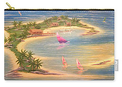Tropical Windy Island Paradise Carry-all Pouch