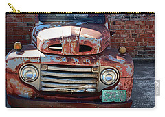 Carry-all Pouch featuring the photograph Ford In Goodland by Lynn Sprowl