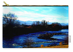 Carry-all Pouch featuring the photograph Truckee River In Motion by Bobbee Rickard