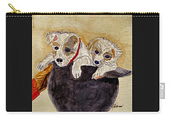 Carry-all Pouch featuring the painting Trump And Tillie by Angela Davies