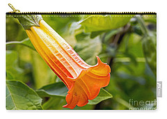 Carry-all Pouch featuring the photograph Trumpet Flower by Kate Brown