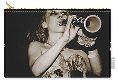 Carry-all Pouch featuring the photograph Trumpet Lady by Alice Gipson