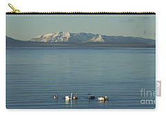 Trumpeter Swans On Yellowstone Lake   #9792 Carry-all Pouch
