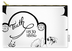 Carry-all Pouch featuring the digital art Truth Time by Carol Jacobs
