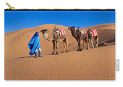 Tuareg Man Leading Camel Train Carry-all Pouch by Panoramic Images