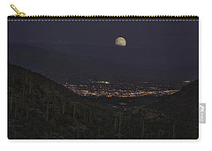 Carry-all Pouch featuring the photograph Tucson At Dusk by Lynn Geoffroy