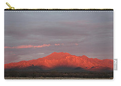 Carry-all Pouch featuring the photograph Tucson Mountains by David S Reynolds