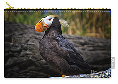 Tufted Puffin Carry-all Pouch by Mark Kiver