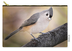 Tufted Titmouse Carry-all Pouch by Bill Wakeley