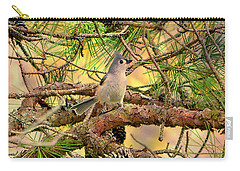 Tufted Titmouse Carry-all Pouch by Deena Stoddard