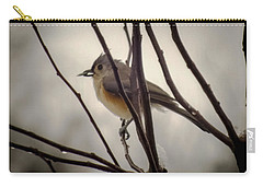 Tufted Titmouse Carry-all Pouch by Karen Wiles