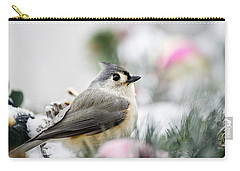 Tufted Titmouse Portrait Carry-all Pouch by Christina Rollo